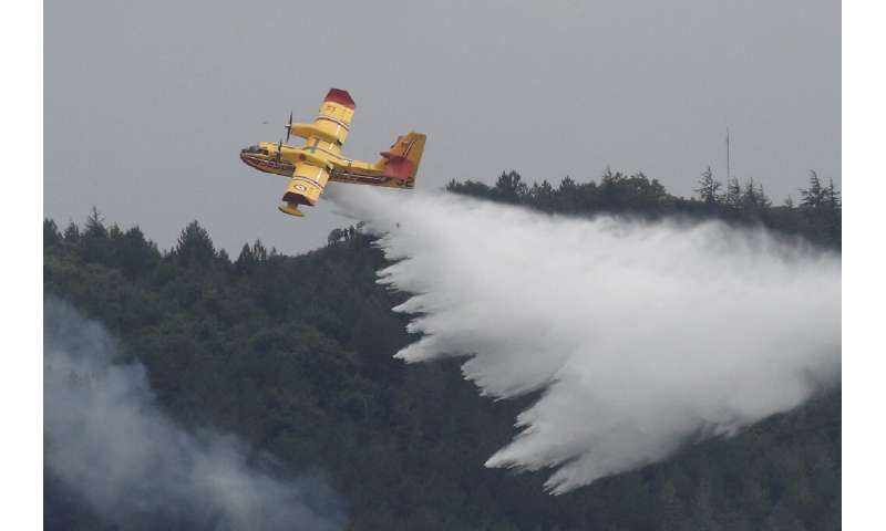 Five water bombers backed up around 500 firefighters on the ground. No homes were lost and no injuries were reported