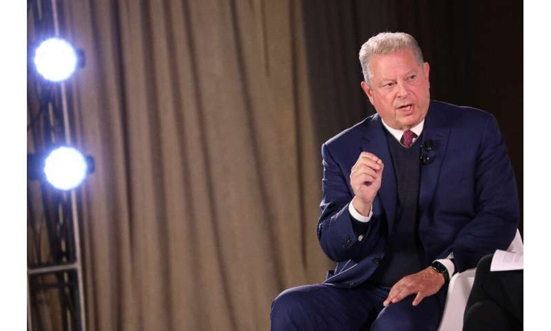 Former US vice president Al Gore, seen here in October 2017, says that the next president can re-enter the Paris climate accord