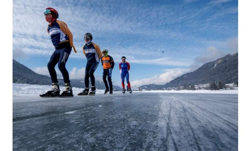 Austrian Lake Offers Climate Haven For Dutch Ice Skaters