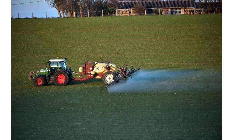 France is one of the EU's heaviest users of glyphosate, which is sprayed on food crops but also widely outside of agriculture on