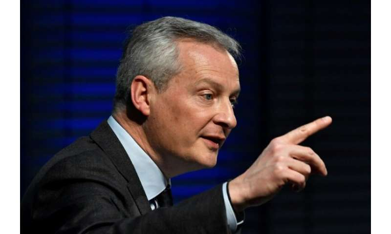 French Economy Minister Bruno Le Maire says about 30 companies will be affected