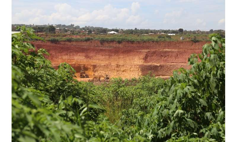 General view of the copper and cobalt mine of Kolwezi in the Democratic Republic of Congo, which is majority-owned by a Chinese