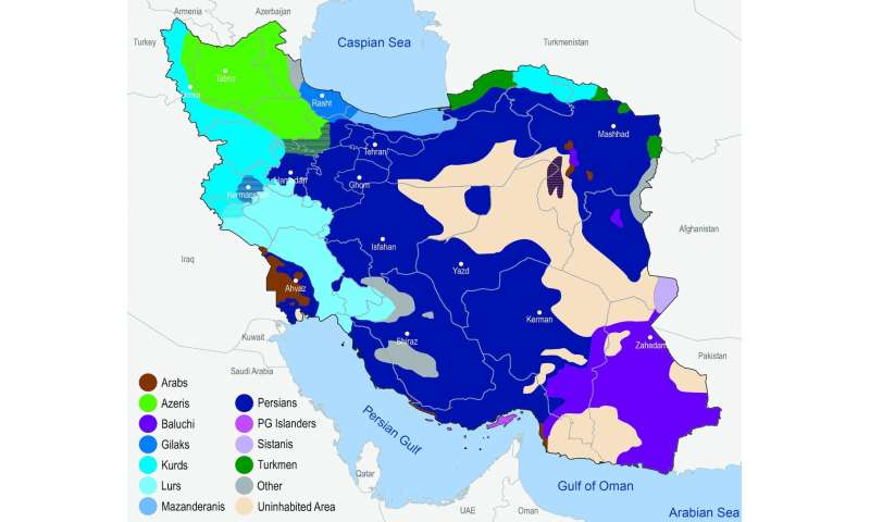 Genome study shows that iran's population is more heterogeneous than previously believed