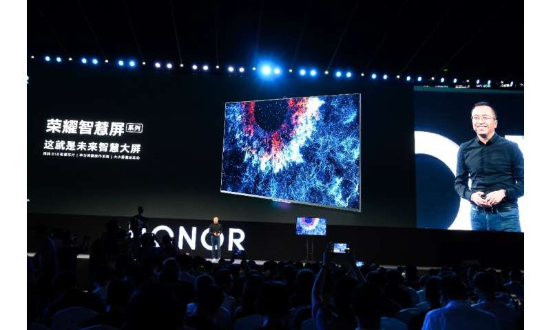 George Zhao, President of HONOR, a branch of Huawei, unveiled HONOR Vision Series, the world's first smart screen equipped with