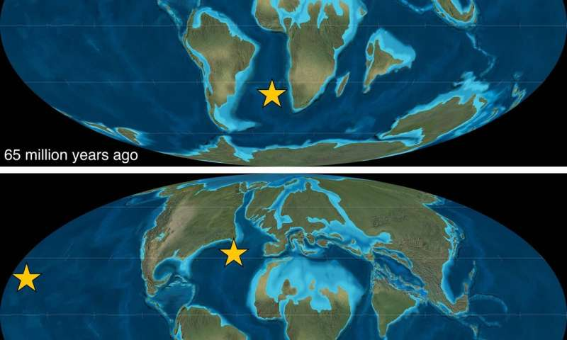 Geoscientists find new fallout from 'the collision that changed the world'