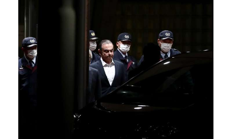 Ghosn, who claims his innocence, awaits trial over charges of under-reporting his salary for years while at Nissan and using com