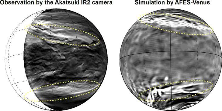 Giant pattern discovered in the clouds of planet Venus