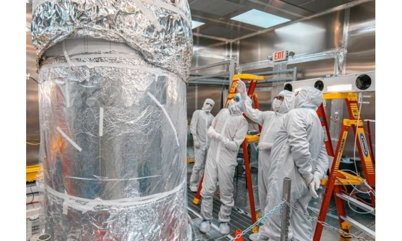 Global team of scientists finish assembling next-generation dark matter detector