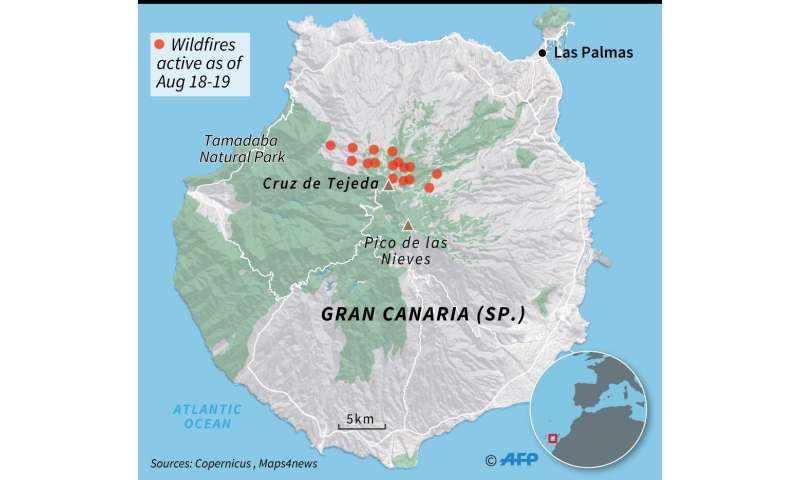 Map Of Spain Gran Canaria.Environmental Tragedy As Canary Islands Fire Out Of Control