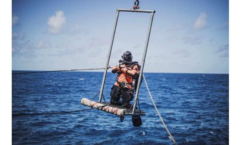 Greenpeace researchers braved choppy seas to explore Vema, an underwater mountain around 1,000 kilometres (600 miles) off the we