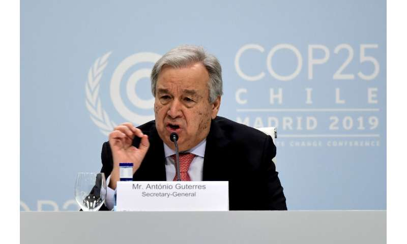 Guterres flagged a UN report to be released in a few days confirming the last five years are the warmest on record, with 2019 li