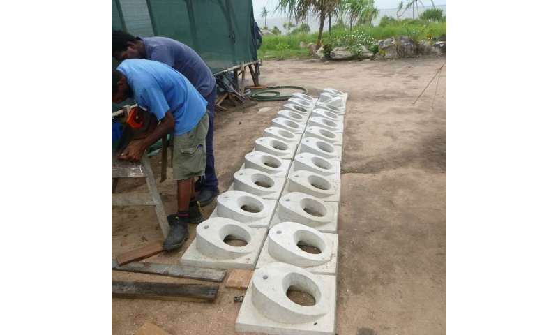 Hand-building dry toilets in PNG's coastal villages to fight climate change impacts