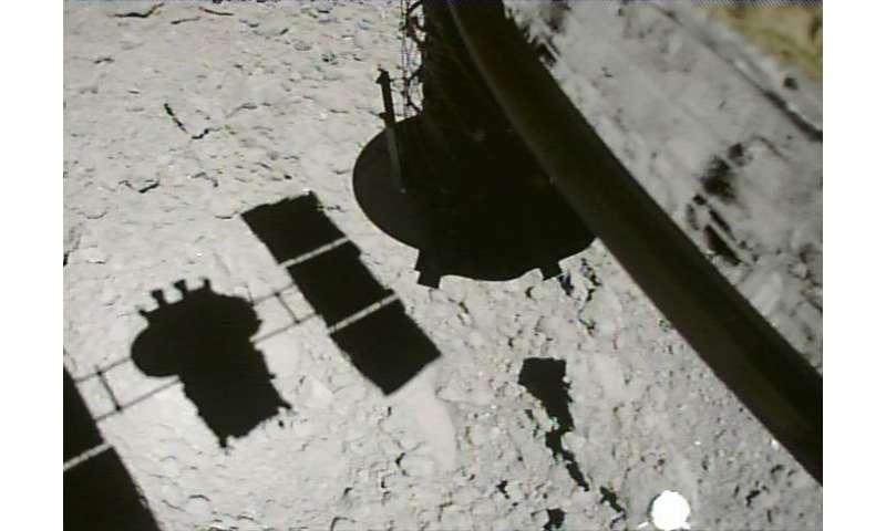 Hayabusa2 drops target marker at asteroid Ryugu