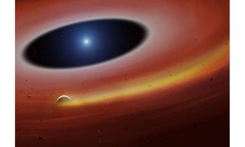 Heavy metal planet fragment survives destruction from dead star
