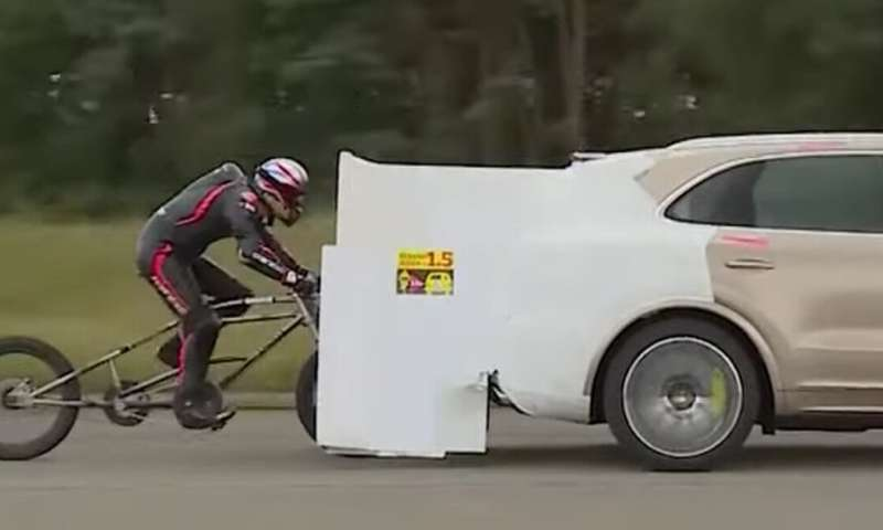 How fast can a human cycle? With aerodynamic help, the 300km per hour barrier seems easily within reach