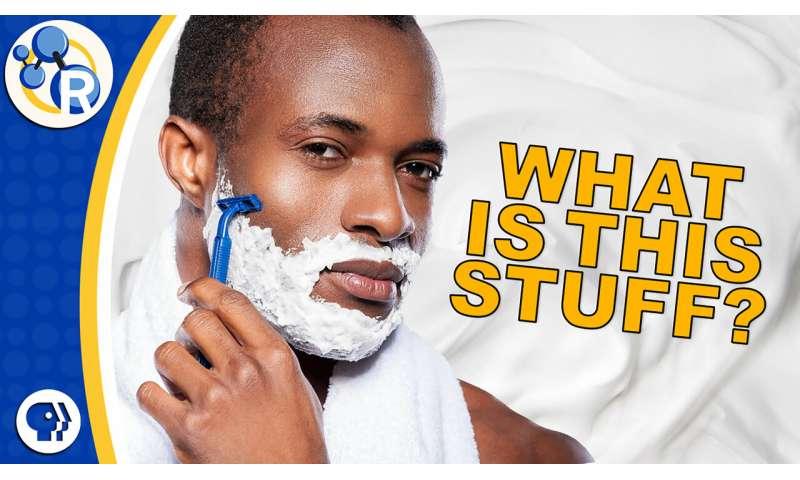 How shaving cream works (video)