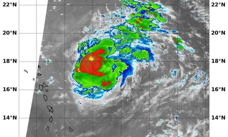 Hurricane Jerry gets its temperature taken by NASA-NOAA satellite