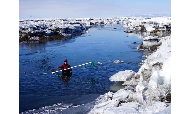 Ice shelves buckle under weight of meltwater lakes