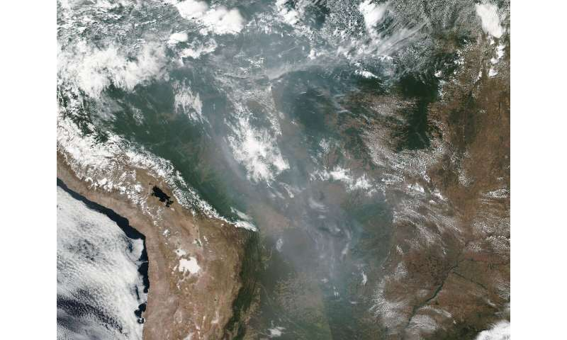 Image: Amazonian fires continue shrouding South America in smoke