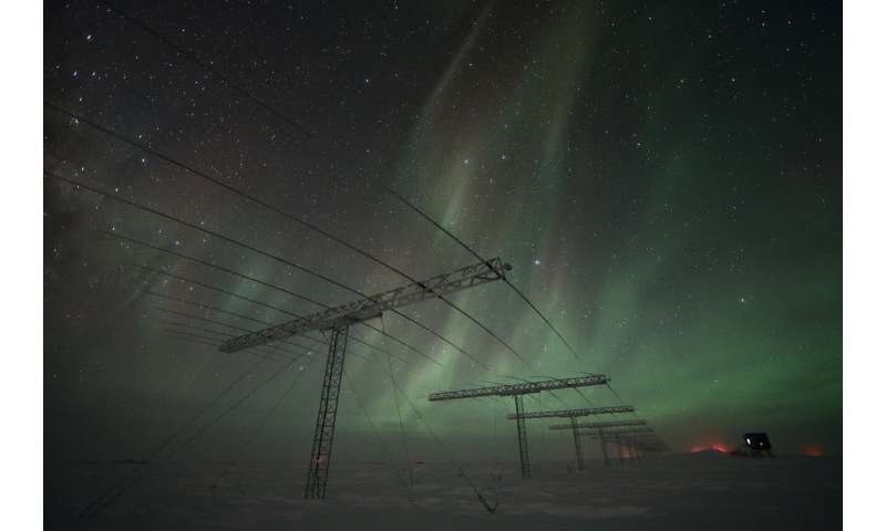 Image: Antennas and auroras