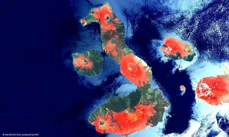 Image: Proba-V view of Galápagos