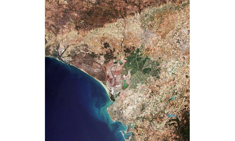 Image: Seville, Spain from orbit