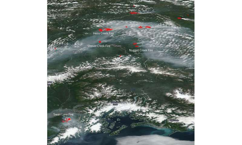 Image: Suomi NPP satellite captures ongoing fires in Alaska