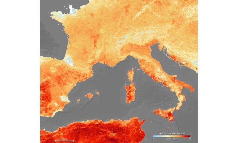 Image: The heat is on across Europe