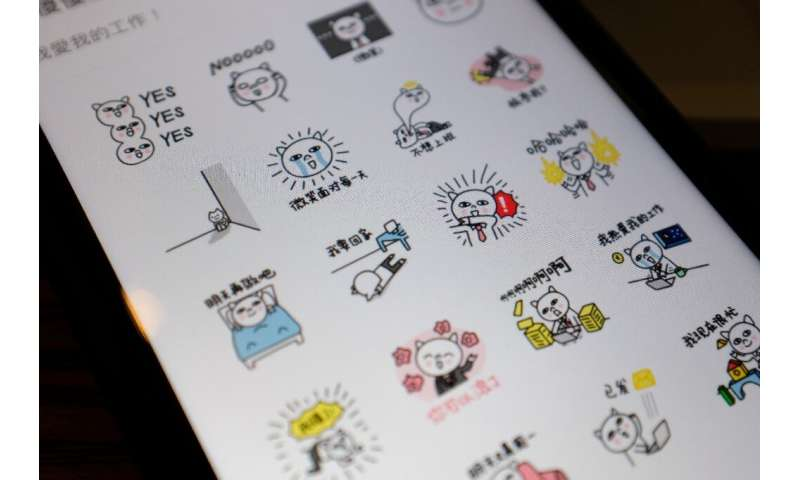 In China, instant messaging stickers are often original creations of local artists who can see their little characters enjoy spe