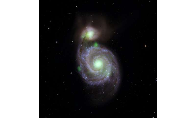 In Colliding Galaxies, a Pipsqueak Shines Bright
