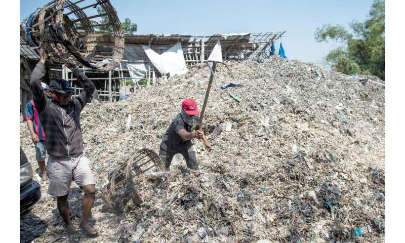 Indonesia's plastic waste imports have soared in the past few years, jumping from 10,000 tons per month in late 2017 to 35,000 t