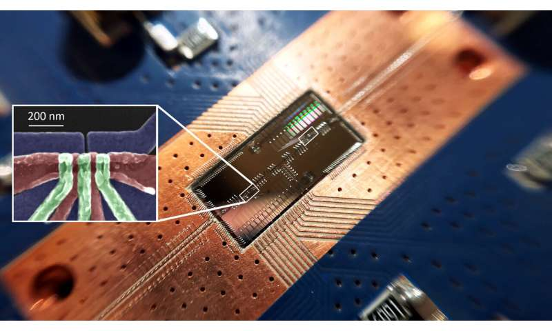 In leap for quantum computing, silicon quantum bits establish a long-distance relationship