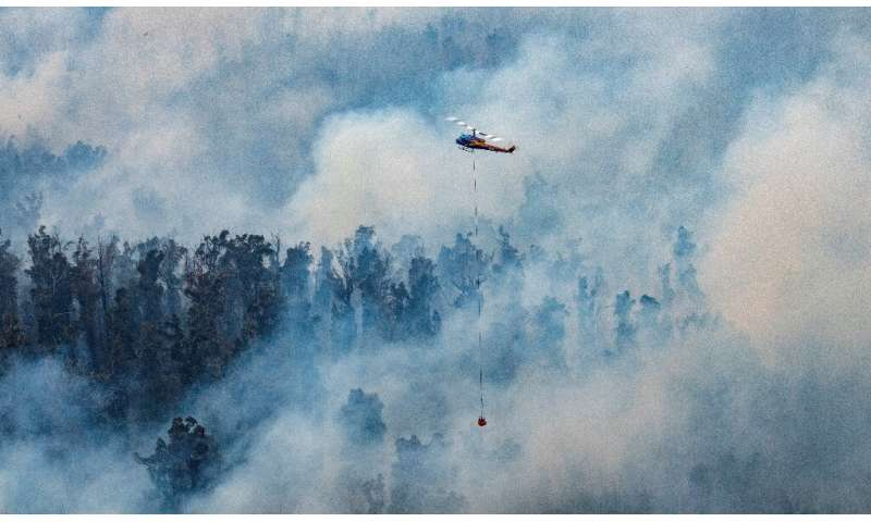 In some places the blazes were so intense, the smoke so thick so severe that aerial reconnaissance and waterbombing had to be ha