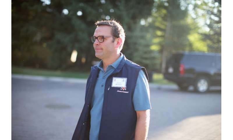James Murdoch, seen in a 2014 picture, has reportedly taken a minority stake in Vice Media as he distances himself from the empi