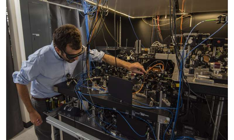 JILA's novel atomic clock design offers 'tweezer' control
