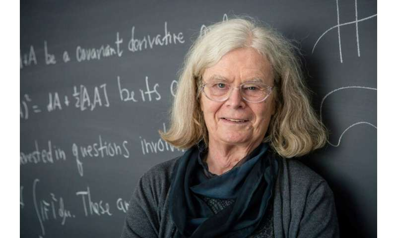 Karen Uhlenbeck, a visiting senior research scholar at Princeton University in the US, is the first woman to be awarded the pres