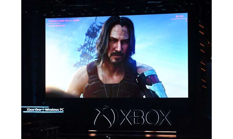"Keanu Reeves announces the new video game ""Cyberpunk 2077"" at the Microsoft Xbox press event"