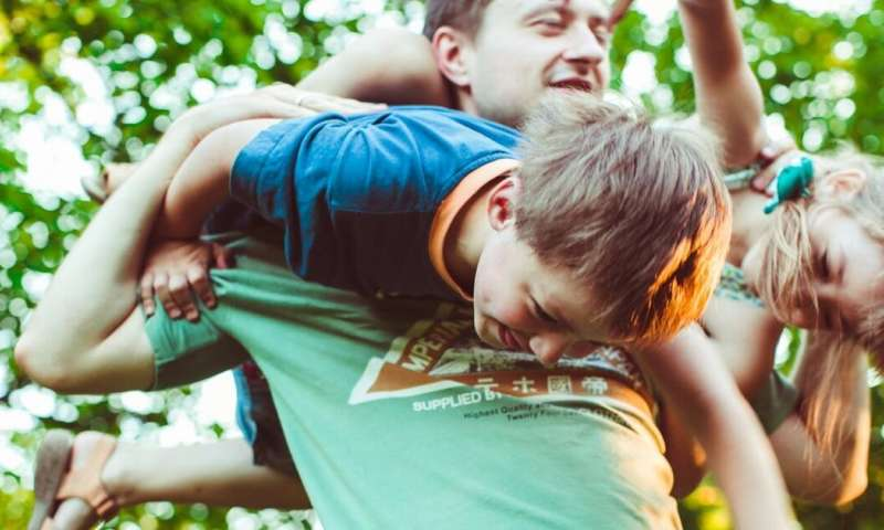 Kids learn valuable life skills through rough-and-tumble play with their dads