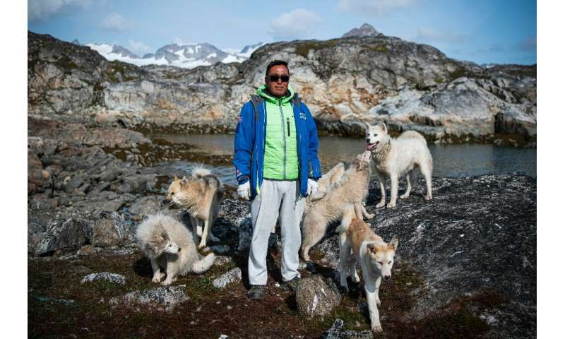 Kunuk Abelsen is a hunter from the Greenlandic village of Kulusuk, who has 22 dogs