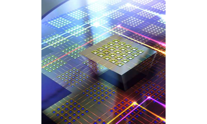 Largest, fastest array of microscopic 'traffic cops' for optical communications