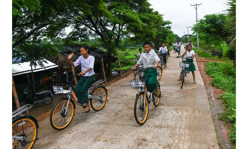 Lesswalk hopes the bikes will help keep more kids in school for longer, giving them an education so they can escape from poverty