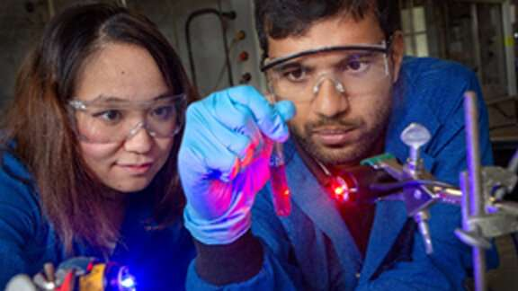 Lighting the way to removing radioactive elements