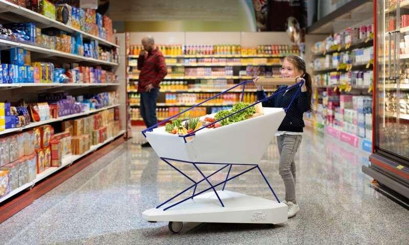 Little shopping cart speedster in Aisle 7 inspires Ford braking solution