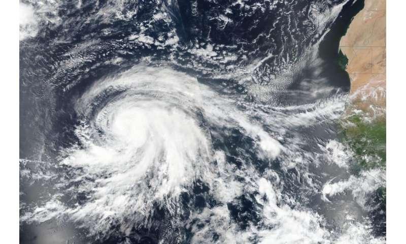 Lorenzo now a more organized and powerful hurricane on NASA satellite imagery