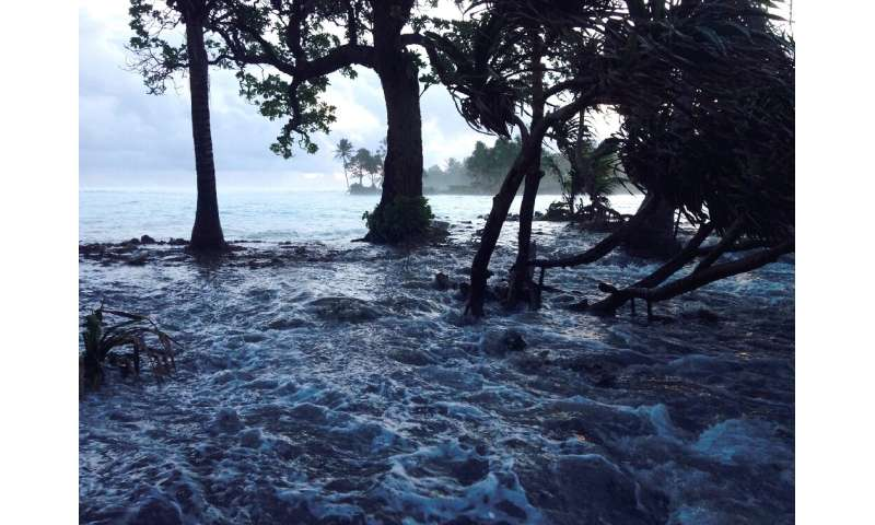 Low-lying Pacific island nations such as the Marshall Islands are threatened by rising seas and storms that have become more pow