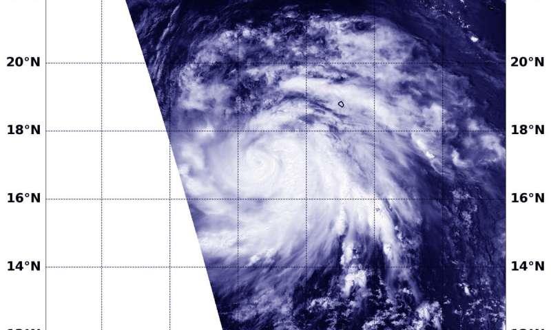 Major Hurricane Juliette's emerging eye spotted in NASA satellite imagery