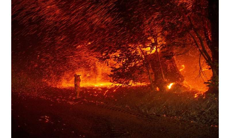 Mandatory evacuation orders were issued for the Californian community of Geyserville and nearby vineyards after a fire started i