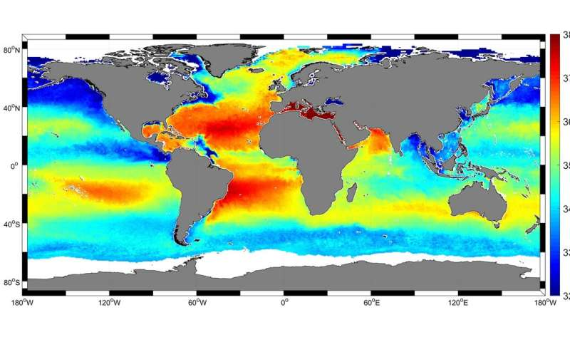 Mapping salty waters