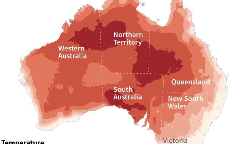 Maximum temperatures across Australia averaged 40.9 degrees Celsius this week, the highest on record