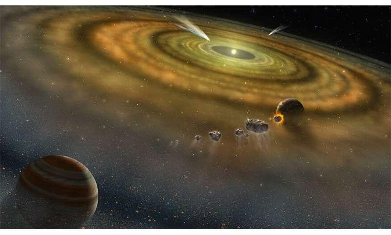 **Meteorites lend clues to solar system's origin
